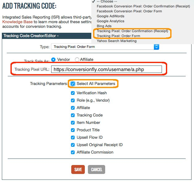 Conversionfly  Clickbank Tracking  Conversionfly Docs